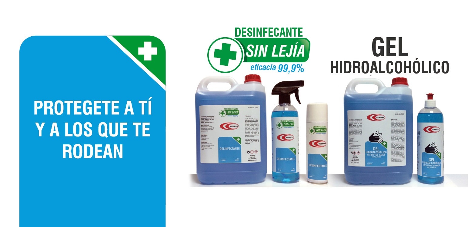 DESINFECTANTE Y GEL HIDROALCOHOLICO
